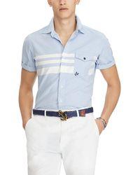 Polo Ralph Lauren - Semi-stripe Short-sleeve Woven Shirt - Lyst