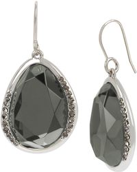 Kenneth Cole - Pave Drop Earrings - Lyst