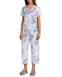 Karen Neuburger - Girlfriend Floral Print Jersey Knit Capri Pyjama Set - Lyst