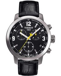 4fb55020a Tissot - T-sport Prc 200 Chronograph & Date Leather-strap Watch - Lyst