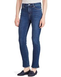 Lauren by Ralph Lauren - Regal High Rise Straight Ankle Jean - Lyst
