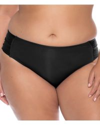 d3126a521e77f Becca - Becca Etc. Color Code Shirred Tab Side Hipster Swimsuit Bottom -  Lyst