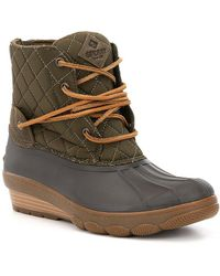 Sperry Top-Sider - Women's Saltwater Wedge Tide Quilted Nylon Duck Boots - Lyst