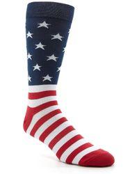 K. Bell - Novelty American Flag Crew Socks - Lyst