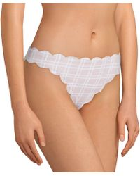 Cremieux - Pique Tattersall Scallop Classic Swimsuit Bottom - Lyst