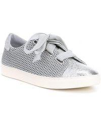 Gianni Bini - Harlita Glitter Lace-up Sneakers - Lyst