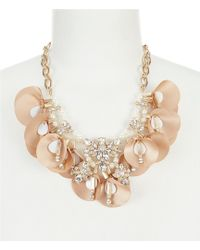 Belle By Badgley Mischka | Fancy Petals Statement Necklace | Lyst