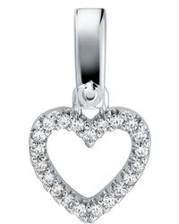Michael Kors - Custom Kors Collection Sterling Silver Pave Heart Charm - Lyst