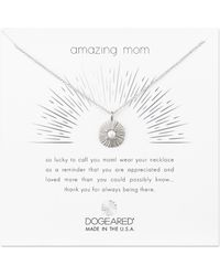 Dogeared - Amazing Mom Necklace - Lyst