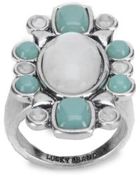 Lucky Brand - Floral Stone Ring - Lyst