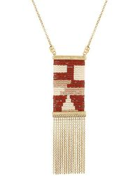 Lucky Brand - Square Tassel Pendant Necklace - Lyst