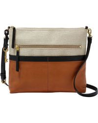 Fossil - Fiona Colorblock Large Cross-body Bag - Lyst