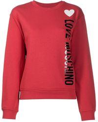 Love Moschino Vertical Logo Sweatshirt - Pink