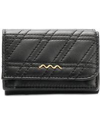 Zanellato Compact Zeta Quilted Wallet - Black