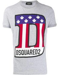 DSquared² Flag Logo Printed T-shirt - Gray