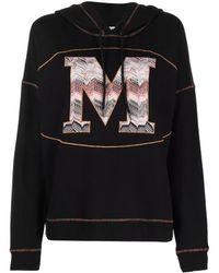 Missoni Monogram Cotton Hoodie - Black