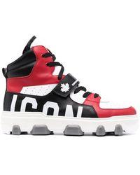 DSquared² Sneakers Icon Alte A Pannelli - Rosso