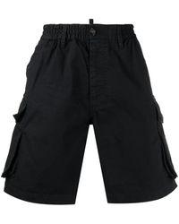 DSquared² Shorts Modello Cargo - Nero