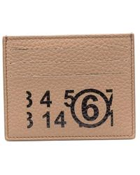MM6 by Maison Martin Margiela Graphic-print Leather Cardholder - Brown