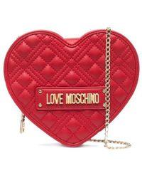 Love Moschino Borsa Trapuntata A Cuore - Rosso