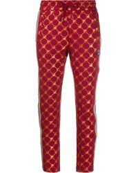 Fila Logo Print Track Pants - Red