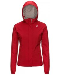 K-Way Marmotta Lily Micro Ripstop Jacket - Red