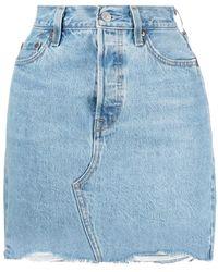Levi's - Frayed-edge Denim Skirt - Lyst
