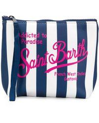 Mc2 Saint Barth Striped Addicted To Paradise Wash Bag - White