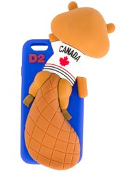 DSquared² Chewing Beaver Iphone 6 Case - Blue