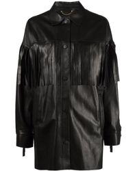 Golden Goose Fringed Leather - Black