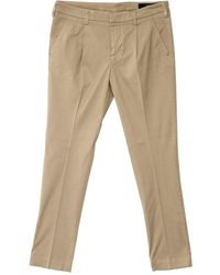 Entre Amis Pleated Trousers - Natural