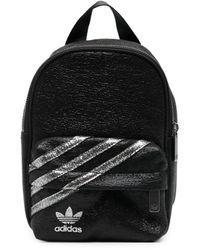 adidas Metal Logo Small Backpack - Black