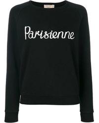 Maison Kitsuné Parisienne Print - Black