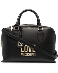 Love Moschino Borsa A Bauletto Con Logo - Nero