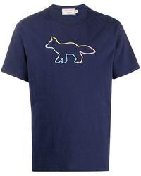 Maison Kitsuné Rope Fox T-shirt - Blue