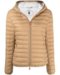 Save The Duck Hooded Puffer Jacket - Natural