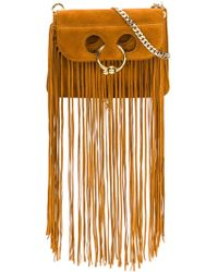 JW Anderson Mini Fringe Pierce Bag - Brown