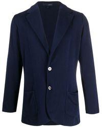 Lardini Knitted Blazer - Blue