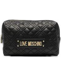 Love Moschino Pochette Make-Up Trapuntata - Nero