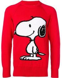 LC23 Maglia Ricamo Snoopy - Rosso
