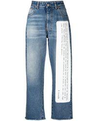 MM6 by Maison Martin Margiela Jeans Con Stampa Slogan - Blu