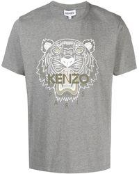 KENZO Tiger Motif T-shirt - Grey