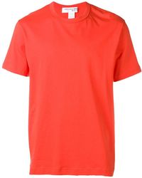 Comme des Garçons Logo Print At Back T-shirt - Black