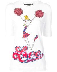 Love Moschino - Cheerleader T-shirt - Lyst