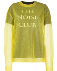 McQ The Noise Club Sweater - Yellow