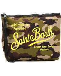 Mc2 Saint Barth Camouflage Addicted To Paradise Wash Bag - Green
