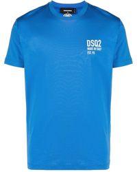 DSquared² T-Shirt Stampa - Blu
