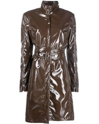 MM6 by Maison Martin Margiela High-shine Trench Coat - Brown