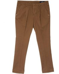 Entre Amis Pleated Trousers - Brown