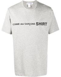 Comme des Garçons Logo Print T-shirt - Gray